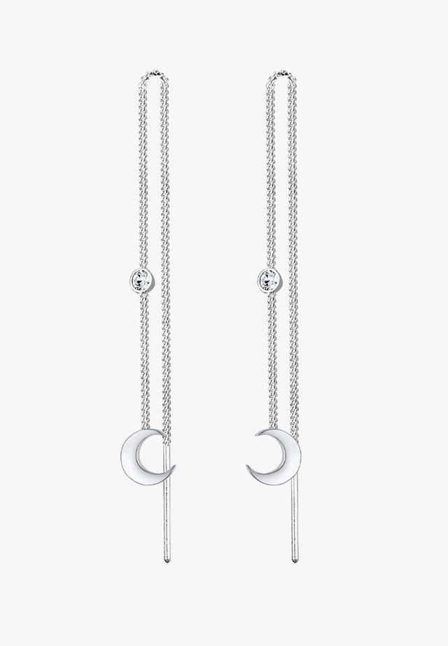HALBMOND  - Øreringe - silver-coloured