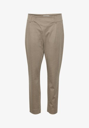 ANETTCR - Trousers - taupe gray check