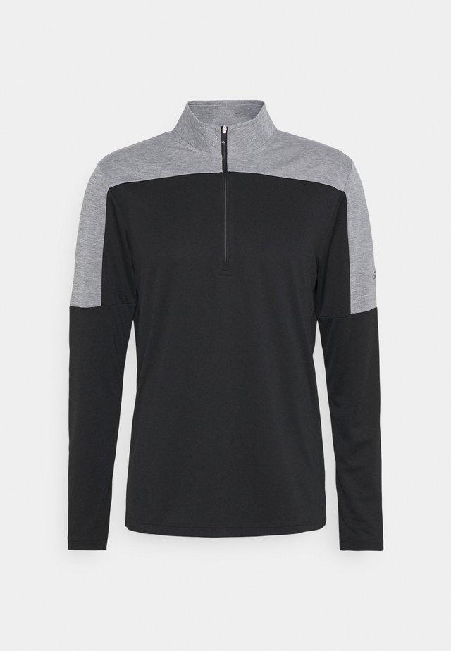 ZIP LIGHTWEIGHT - Långärmad tröja - black melange