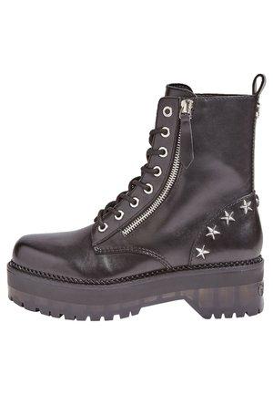SCHNÜRBOOT TANNER ECHTES LEDER - Lace-up boots - black