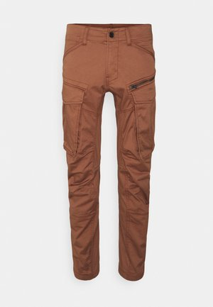 ROVIC ZIP 3D STRAIGHT TAPERED - Cargo trousers - medium clay