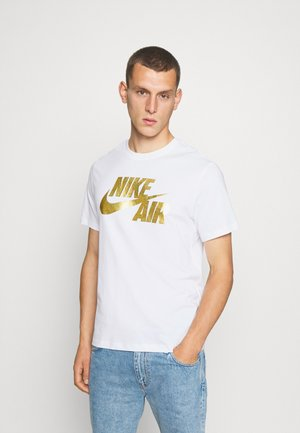 TEE PREHEAT AIR - Print T-shirt - white/gold