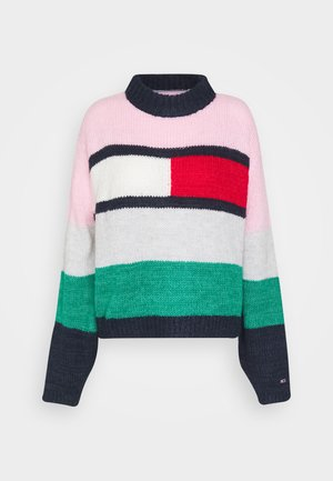 TJW BELL SLEEVE FLAG - Jumper - romantic pink/multi