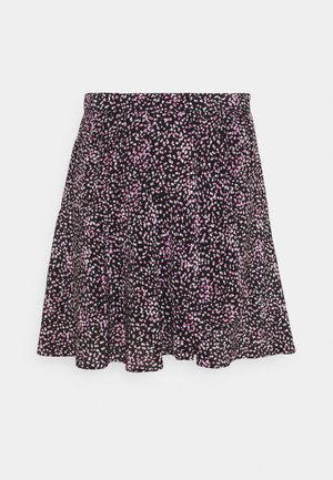 SKIRT - Minijupe - black/pink