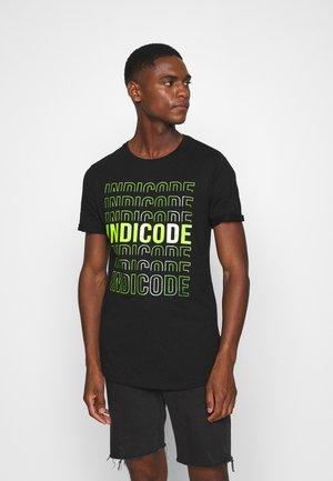 TONDER - T-shirt med print - black