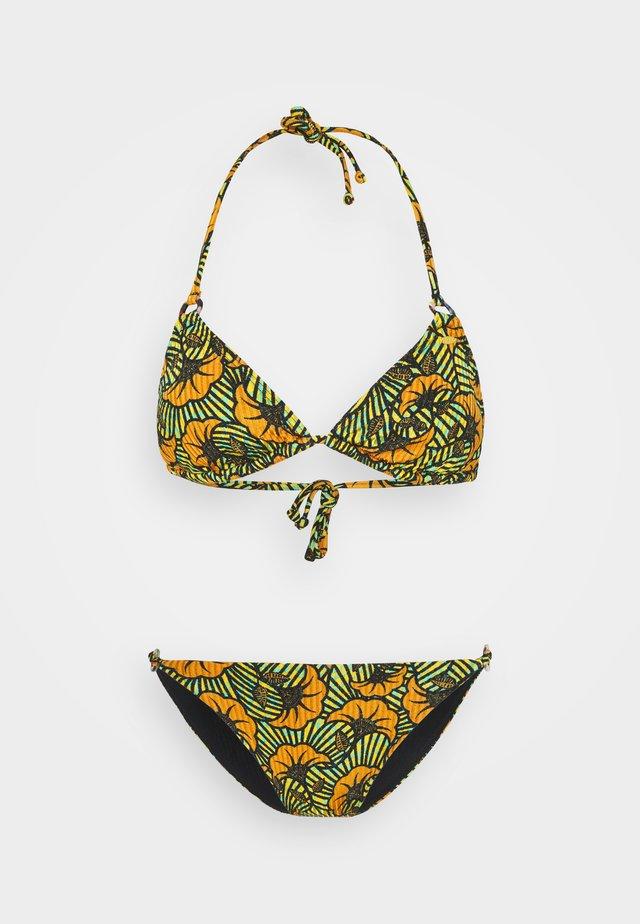 SET - Bikini - yellow/green