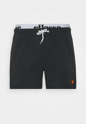 TEYNOR - Swimming shorts - black/white