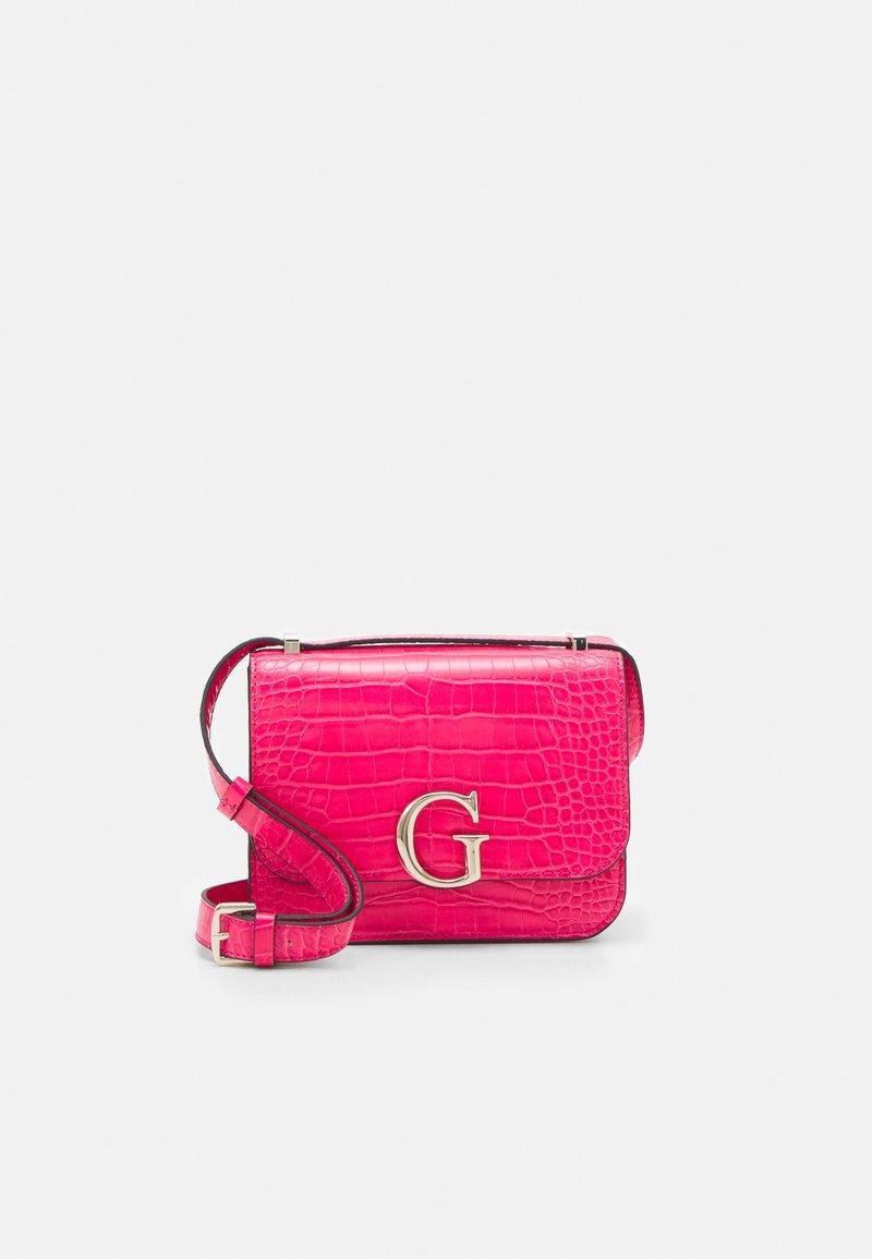 Guess - HANDBAG CORILY CONVERTIBLE XBODY FLAP - Across body bag - pink