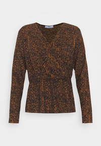 ONLZILLE FIXED WRAP TOP - Long sleeved top - rust