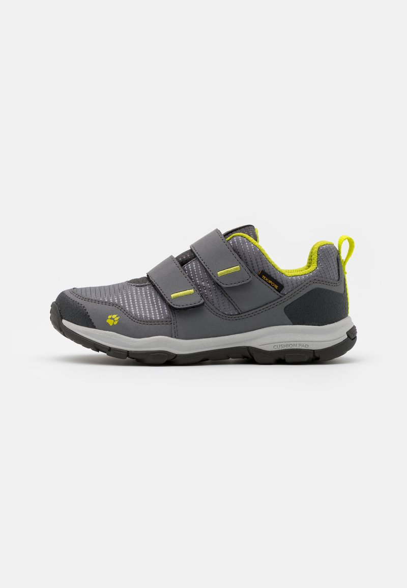 Jack Wolfskin - MTN ATTACK 3 TEXAPORE LOW UNISEX - Hiking shoes - grey/lime