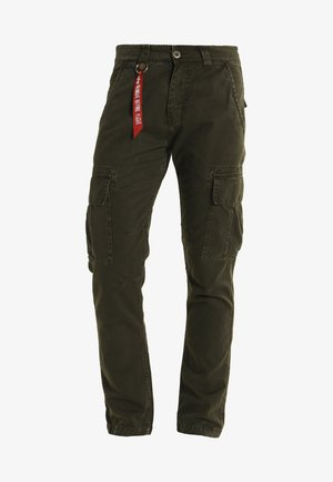 Cargo trousers - black oliv