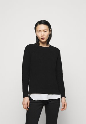 COMBED - Jumper - black