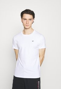 Hollister Co. - 7 Pack - T-shirt basique - white/soft red/orange/yellow/turquise/blue - 3