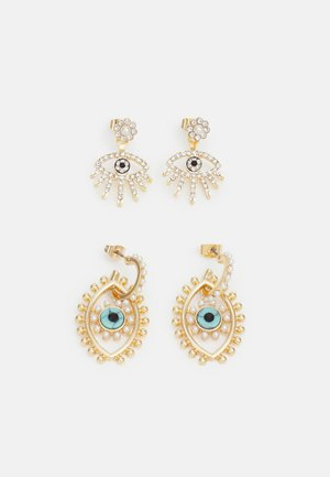 PCPILAR EARRINGS 2 PACK - Kolczyki - gold-coloured/multi