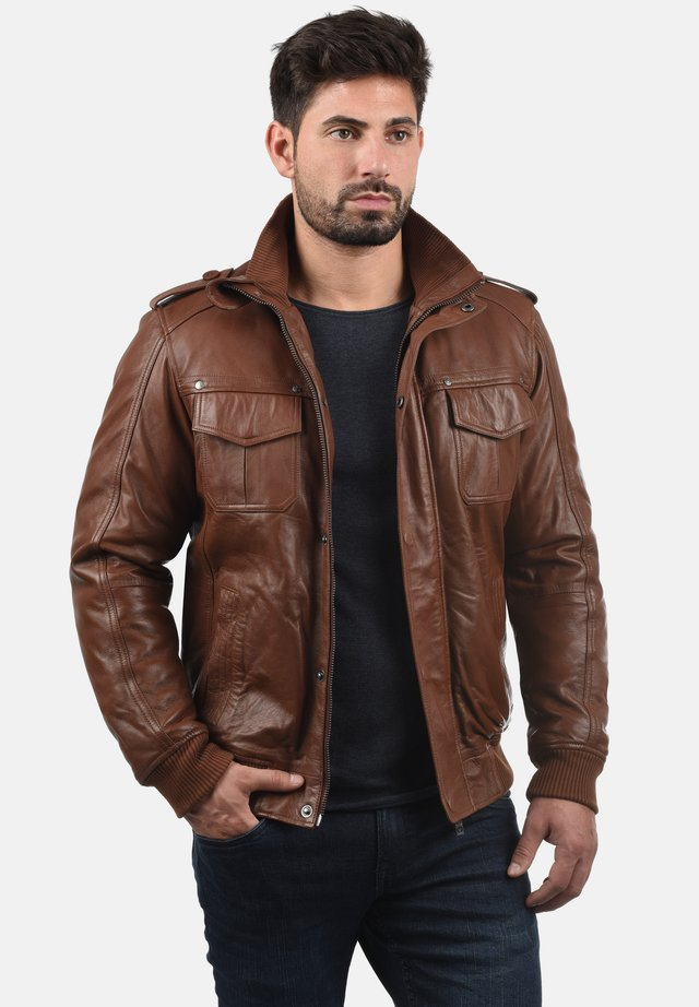CAMASH - Leather jacket - golden bro