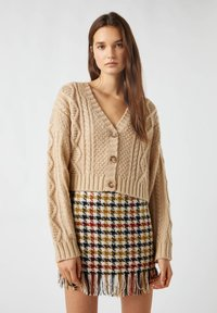 PULL&BEAR - Cardigan - brown - 0