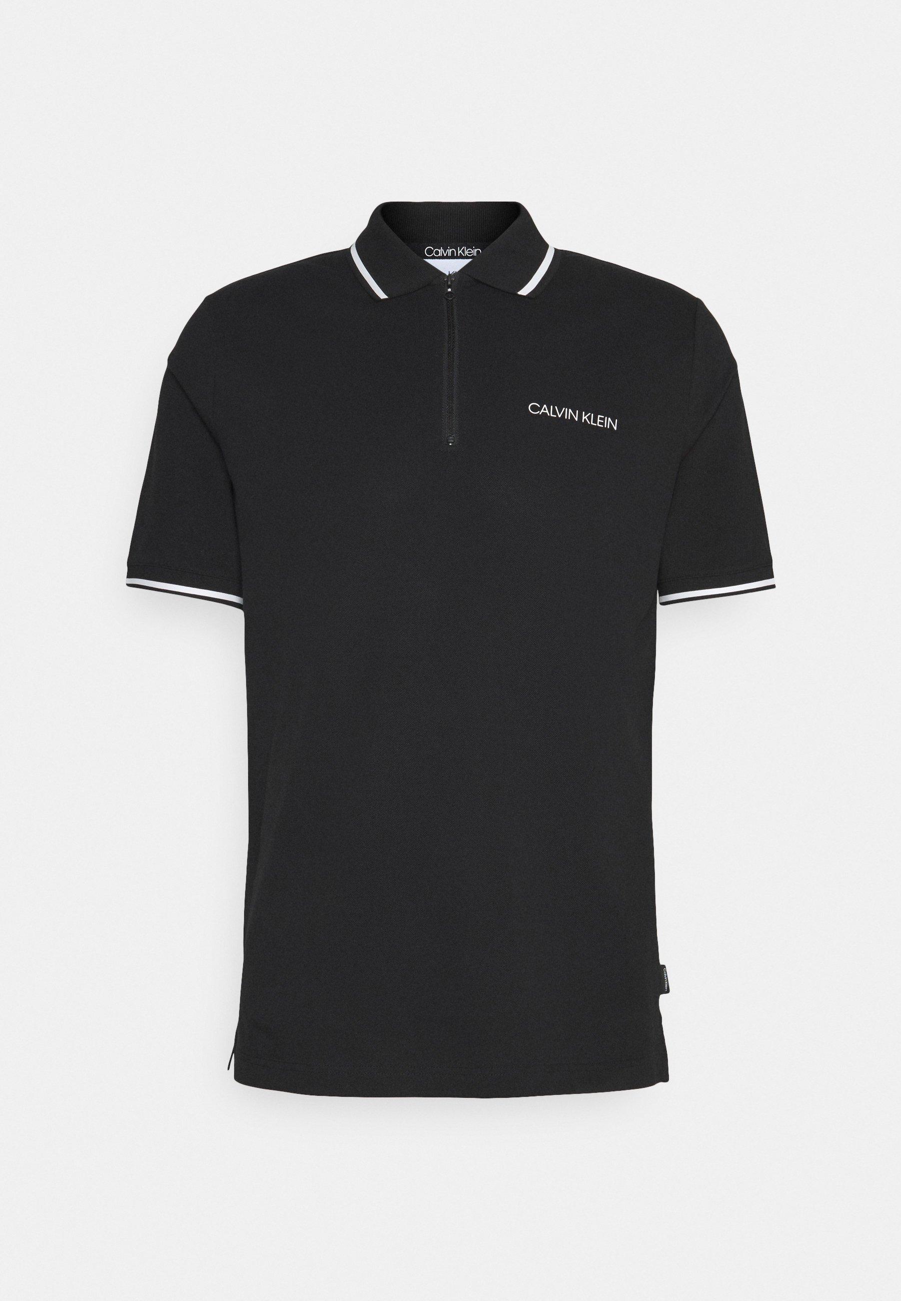 Men STRETCH ZIPPER SLIM - Polo shirt