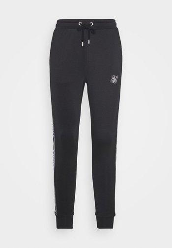 SIKSILK ARC TECH CROPPED TRACK PANTS - Tracksuit bottoms - black