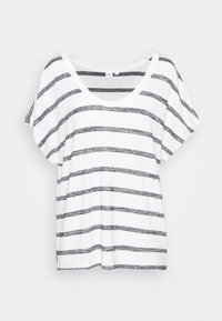 GAP - SCOOPNECK  - T-shirt z nadrukiem - white/navy - 3