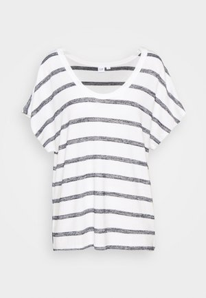 SCOOPNECK  - T-shirt z nadrukiem - white/navy