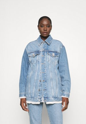 GIUBBINO OVER  - Denim jacket - blueberries