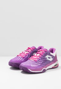 Lotto - MIRAGE 100 CLY - Clay court tennis shoes - purple willow/all white/funky pink - 2