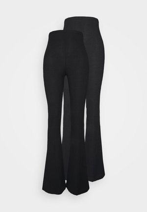 FLARE 2 PACK - Leggings - Trousers - black