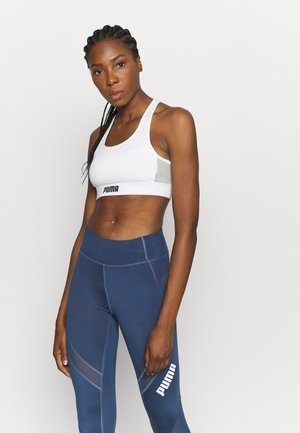 PAMELA  REIF X PUMA  COLLECTION LAYER SPORT CROP  - Brassières de sport à maintien normal - star white