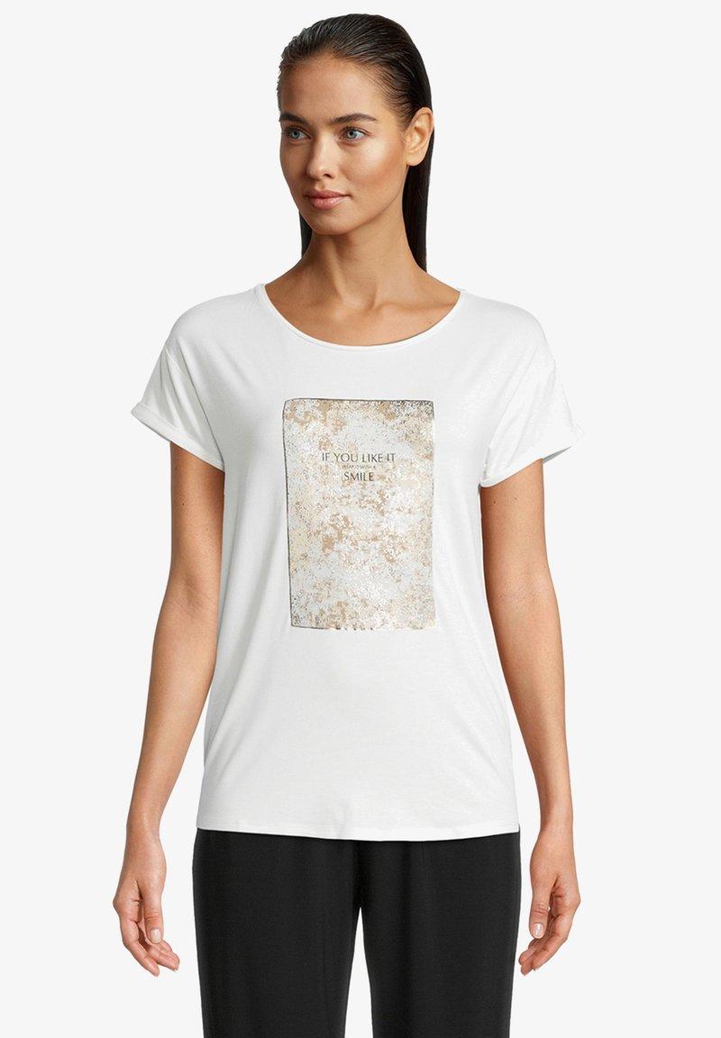 Betty & Co - Print T-shirt - rohweiß
