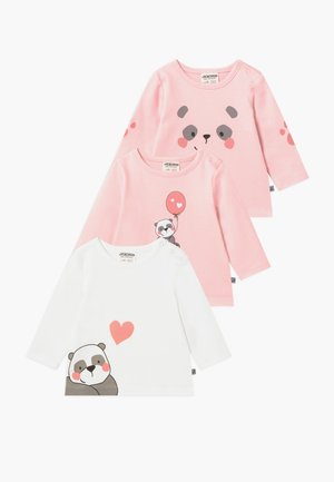 PANDA LOVE 3 PACK - T-shirt à manches longues - light pink