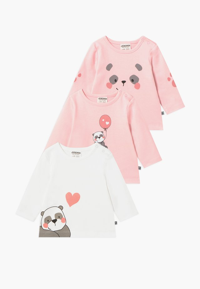 PANDA LOVE 3 PACK - Langarmshirt - light pink