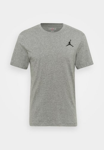 JUMPMAN CREW - T-shirt basic - carbon heather/black