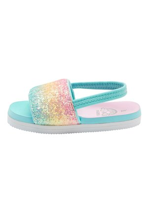 RAINBOW GLITTER SLIDERS (YOUNGER) - Badslippers - pink