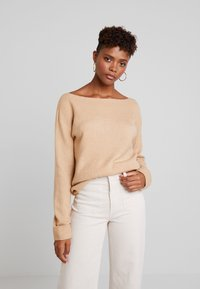 TWINTIP - BASIC OFF SHOULDER - Jumper - beige - 3