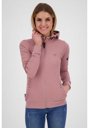 Zip-up hoodie - plum
