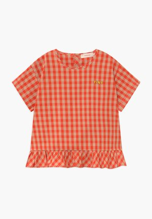 FRILL VICHY BLOUSE - Blusa - red