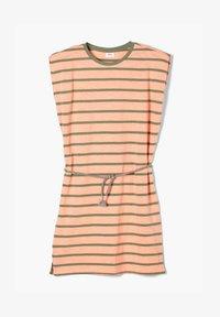 s.Oliver - Jersey dress - neon peach stripes - 0