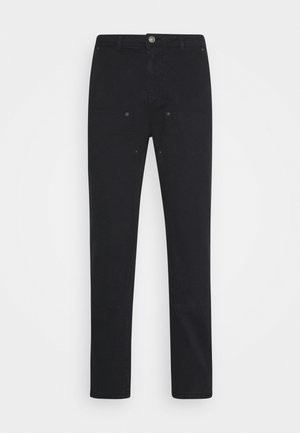 STRAIGHT PAINTERS PANT - Trousers - black