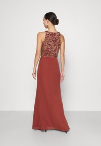 Lace & Beads - AURELIA MAXI - Vestido de fiesta - burnt orange - 2