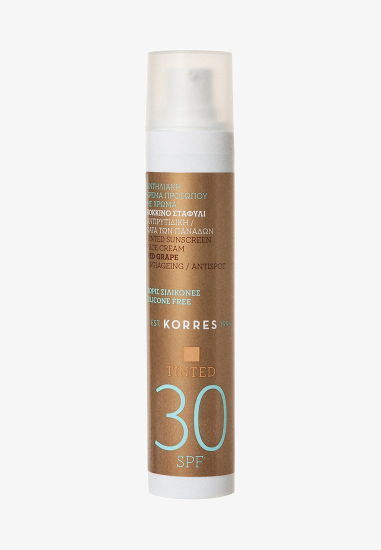 Korres - RED GRAPE ANTI-AGEING/ANTI-SPOT TINTED SUNSCREEN SPF30 - Sun protection - -
