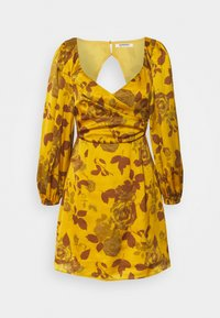 Glamorous - MINI DRESS WITH PUFF SLEEVES - Cocktail dress / Party dress - ochre - 0