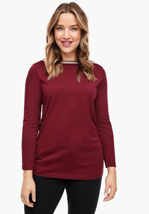 MIT SCHMUCK-APPLIKATION - Blouse - bordeaux