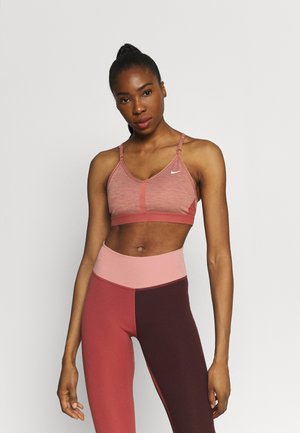 INDY BRA - Sport-bh met light support - canyon rust/pure/white