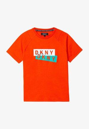 Print T-shirt - coquelicot