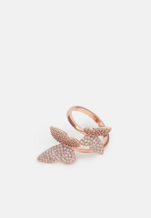LEEUWIN - Ring - clear on rose gold-coloured