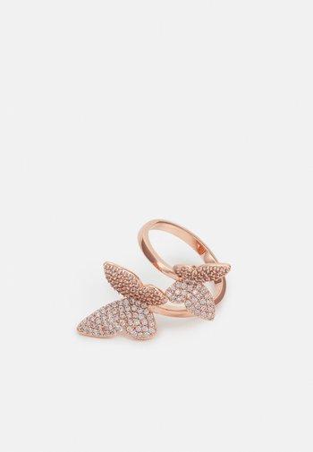 LEEUWIN - Pierścionek - clear on rose gold-coloured