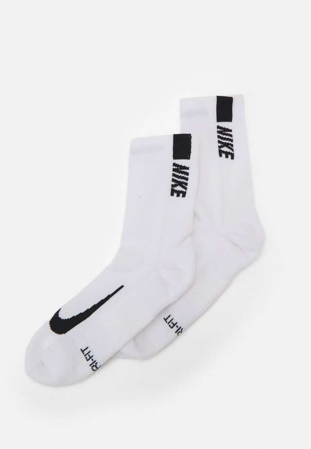 2 PACK UNISEX - Sports socks - white/black