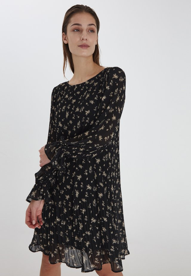 Robe d'été - black w. flower print