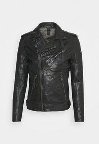 MALIK UNISEX - Leather jacket - anthracite