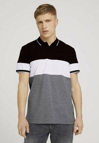 TOM TAILOR DENIM - Polo shirt - black - 0